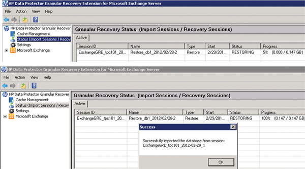 Single-pass disaster recovery
